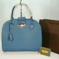 LV EPI LEATHER BLUE N YELLOW
