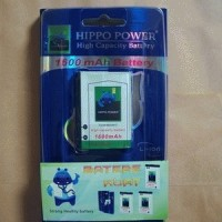 Battery/Baterai Blackberry (BB) Hippo Double Power F-S1 1600mAh (Torch)
