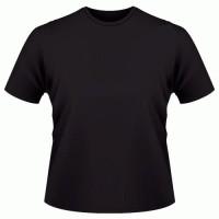 kaos polos hitam O-neck pendek size= XL