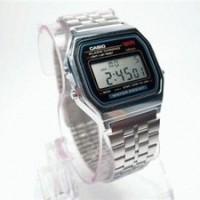 Jam Tangan Casio A 168 Silver