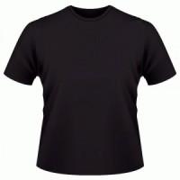 kaos polos hitam O-neck pendek size:XXXL