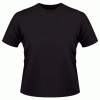 kaos polos hitam O-neck pendek size:L