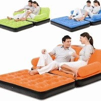 BESTWAY COMFORT QUEST AIR SOFA BED INFLATABLE CAMPING MATTRESS/AIR BED WITH PUMP