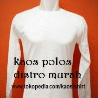 kaos polos putih O-neck panjang size : XL