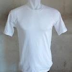kaos polos putih O-neck pendek size: XL