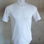 kaos polos putih O-neck pendek size:XXL