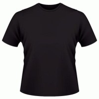 kaos polos hitam O-neck pendek size:M