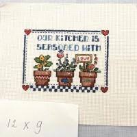 "Vintage Style Cross Stitch versi ""kitchen 2"""