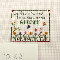 "Vintage Style Cross Stitch versi ""Garden"" (tanpa frame)"
