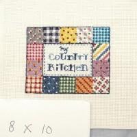 "Vintage Style Cross Stitch versi ""Kitchen"" (tanpa frame)"