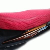 Pelapis / sarung jok motor anti panas merah