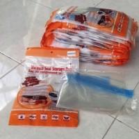 Kantung Penyimpanan Kedap Udara : 35*48cm Hand roll travel Vacuum storage bag