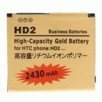 HTC HD2 T8585 2430 mAh Double Power Gold Baterai (35H00128-00M / BA S400 / BB81100 / BB81200)