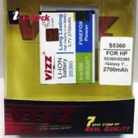 Baterai Vizz - S5360 2700 mAh Khusus Samsung Galaxy Young GSM dan CDMA