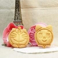 Set Cetakan Nasi / Roti / Kue Motif Doraemon (1 Set Isi 2)