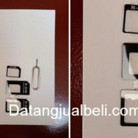 Micro + Nano Sim Adapter Merubah SIM Card yang Sudah Dipotong Ipad Iphone Samsung