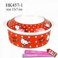 Mangkuk + Tutup Melamin hello kitty HK457-1
