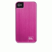 Case-Mate iPhone 4S Barely There Brushed Alumunium - Hot Pink