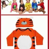 Romper Tiger (+Topi)