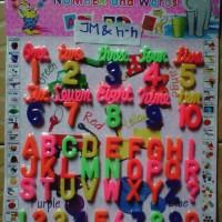 Mainan Mengenal Huruf dan Angka