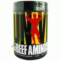 8801A - Universal Nutrition 100% Beef Aminos isi 200 - Suplemen nutrisi otot