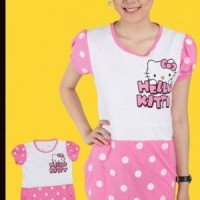 Dress Hello Kitty Tangan Balon