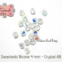 Kristal Swarovski - Bicone Crystal AB