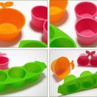 Bento cup by Torune ~ set isi 3. orange, tomato, green pease