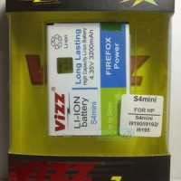 S4 Mini / S4 Mini Duos 3200mAh Battery / Baterai Vizz Double Power Samsung Galaxy S4 Mini i9190 / i9192 / i9195