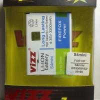 S4 Mini / S4 Mini Duos 3200mah Battery / Baterai Vizz Double Power Samsung Galaxy S4 Mini I9190 / I9192 / I9195