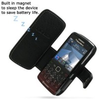 PDair BlackBerry Pearl 9100 Leather Case Book Type