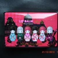 Cute LIP BALM HARAJUKU DOLL (Lip Gloss) Lipbalm Boneka Kimono Jepang - Harga PER BOX Isi 24 pcs / buah