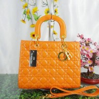 LIGHT ORANGE KOTAK -TAS LADY DIOR GRANVILLE DIOR-B257