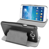 Samsung Galaxy Mega Duos 5.8 GT-I9152 Slim Flip Leather Case Cover with Holder [Hitam]