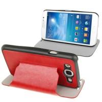 Samsung Galaxy Mega Duos 5.8 GT-I9152 Slim Flip Leather Case Cover with Holder [Merah]