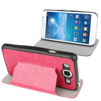 Samsung Galaxy Mega Duos 5.8 GT-I9152 Slim Flip Leather Case Cover with Holder [Pink]