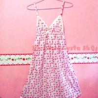 Sleepwear mini dress strawberry