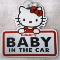 Baby on Board - Hello Kitty Tempelan Mobil Sign bukan tipe sticker
