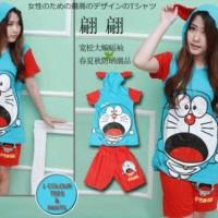 Setelan Hoodie Doraemon Shock