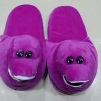 harga Sandal Rumah - Sandal Tidur Dewasa Karakter Barney Tokopedia.com