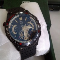 TAG HEUR GRAND CARERA CALIBRE 36 RUBBER WITH DATE MESIN TRANSPARANT