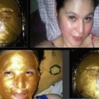 Gold Bio Collagen face mask , Masker Emas Kolagen Wajah