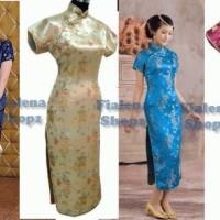 Cheongsam Tang Long dress Qipao Cantik klasik BANYAK BIG SIZE XXXL