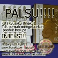 BEWARE!!! KB Injeksi adalah PALSU | KB tidak pernah mengeluarkan produk dalam bentuk Injeksi