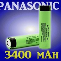 Batre / Batere / Baterai / Battery Rechargeable Li-Ion / Lithium Ion 18650 3,8V Panasonic 3400mAh Made in Japan Real Capacity