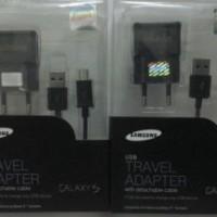 Charger Samsung Galaxy S Series (Adapter + Kabel data dengan microUSB)