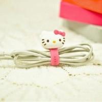 Penggulung Kabel Motif Hello Kitty Pink + Putih (1 Set Isi 2)