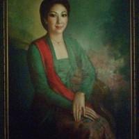 "Lukisan "" Lady "" oleh Basuki Abdullah"