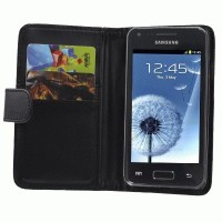 Samsung Galaxy S Advance GT-I9070 Leather Wallet Case with Credit Card Slot