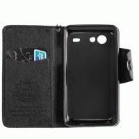 Samsung Galaxy S Advance GT-I9070 MLT Horisontal Textured Flip Leather Wallet Case [Hitam]
